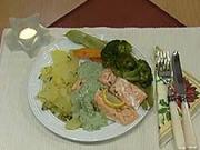 Losos na zelenine - recept na lososa na zelenine