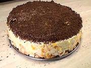 Rychlý třepaný dort - recept na piškotovy dort s mandarinkami a čokoládou