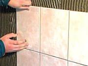Lepení obkladaček - Jak ukládat obkládačky - jak se lepí obklad