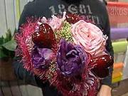Valentýnská kytice ve tvaru srdce