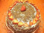 Valentínska torta  - recept na valentínsku tortu