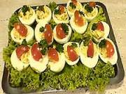 Plněné vejce - recept recept na vejce plněné bylinkovou pomazánkou