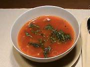 Paradajková polievka - recept na paradajkovú polievku s bazalkou