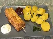 Šunkovo - sýrový špíz - recept na špíz se šunkou a syrem
