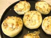 Plnený zapekaný kaleráb - recept na plnený zapekaný kaleráb s syrom, cesnakom a pžítkou
