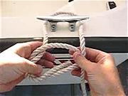 Námornícky uzol - Ako sa viaže námornicky uzol - Viazanie uzlov