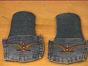 Papuče zo starých džín - Ako si urobiť zo starých džín  papuče
