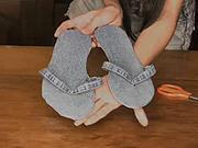 Džínové šlapky - jak se dají  ze starých džín udělat stylové šlapky.