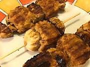 Sojové špízy  - recept na sojové špizy so šampiňonmy