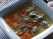 Kuracia polievka s pečeňovými haluškami - recept na slepačiu polievku - slepačí vývar