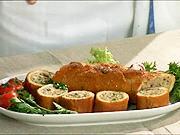 Francúzska bageta plnená hovädzím mäsom a syrom ricotta