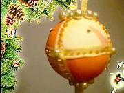 Vianočná guľa z textilnej látky a polystyrénu