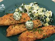 Chrumkavý Treboňský kapor  - recept na Treboňského kapra so zemiakovou kašou