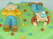 Torta Pat a Mat  - ako vyzdobiť tortu figurkami Pat a Mat