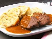 Hovädzie na víne - recept  na hovädziu pečeň so slaninkou na víne - hovädzie po burgunsky