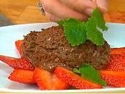 Čokoládová pena - recept na čokoládovú penu s jahodami