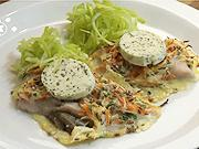 Kapr v zeleninové krustě - recept  na kapra se zeleninovou krustou