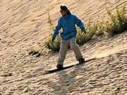 Jazda na snowboarde na piesku -  Ako jazdiť so snowboardom po piesku