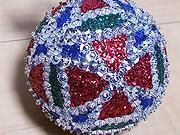 Vianočná mozaiková guľa