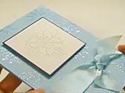 Vánoční pohlednice - sněhová vločka