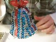 Strieborno-modrý vianočný zvonček