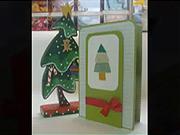 Vianočná pohľadnica - Ako vyrobiť vianočný pozdrav v tvare vianočného stromčeka