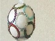 Vianočné gule - Vianočná guľa s farebnými bublinami