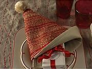 Obrúsok v tvare Santa čiapky - ako poskladať obrúsok do tvaru Santa čiapky - Skladanie obrúskov