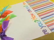 Ako vyrobiť  zaujímavý farebný pozdrav