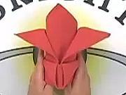 Obrúsok v tvare koruny - Ako poskladať obrúsok do tvaru koruny