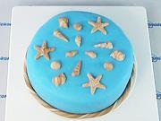 Mořské plody na dortu - Jak vyzdobit dort mořskými plody.
