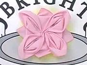 Obrusok v tvare ruže - ako poskladať obrúsok do tvaru ruže - skladanie obrúskov