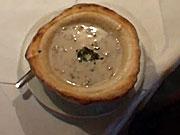 Šampiňónová krémová polievka - recept na hubovú polievku so šampiňonmi v chlebe