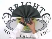 Obrusok v tvare vejára - ako poskladať obrúsok do tvaru vejára - skladanie obruskov