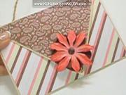 Valentínsky pozdrav s kvetom a srdiečkom - pozdrav na Valentína
