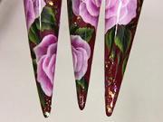 Gelové nehty zdobené růžovými květy