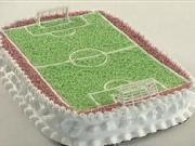 Torta ako futbalové ihrisko -  Ako si vyrobiť  tortu v tvare futbaloveho ihriska