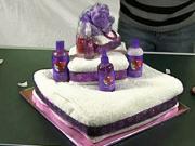 Torta z uterákov - ako poskladať uteráky do tvaru torty