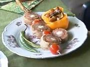 Poľovnícka  roláda - recept na poľovnícky špiz z mletého mäsa s ovčim syrom a slaninou