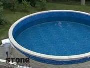 Stavba nadzemního bazénu - Stone system