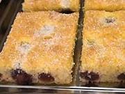 Ovocná bublanina - recept na bublaninu s čerešňami - čerešňový koláč