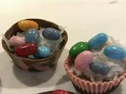 Čokoládové košíčky - recept na velkonočné košíčky plnené čokoládou