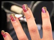 Tygrované gelové nehty