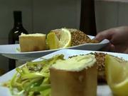 Dvojfarebný losos - recept na lososa  so zemiakovou kašou