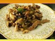 Krůtí nudličky s lilkem  - recept na krůtí nudličky s lilkem na medu a česneku