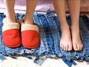 Koberec zo starých riflí (džín) - Ako z riflí /džín vyrobiť koberec