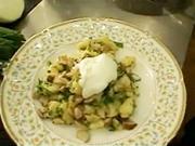 Zemiakové tyčinky na hubách s bylinkami - recept na fliačky s hubami
