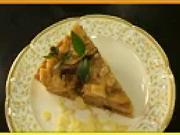 Jablkový koláč - recept na nepečený jablkový koláč s hrozienkami
