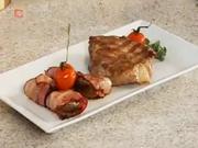 Grilovaná krkovička - recept na grilovanú krkovičku s plnenými šampiňónmi