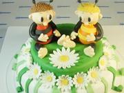 Zdobenie torty - včelí medvedíkovia